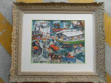 Lucien GENIN (1894-1953) - Le déchargement des oranges sur le Vieux- Port