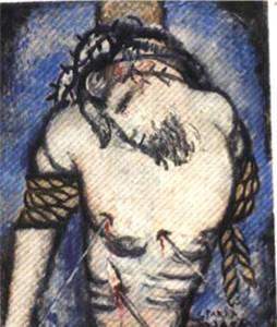 """Ginés PARRA (1896-1960) - """"cristo atado a la columna"""""""
