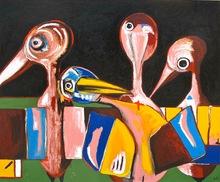 Lucia CALLERI (1964) - Famiglia d'uccelli da un occhio solo