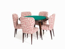 Giò PONTI (1891-1979) - Poker Table with 5 Chairs