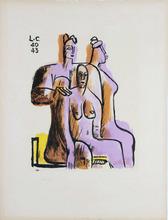 LE CORBUSIER (1887-1965) - Trois personnages assis
