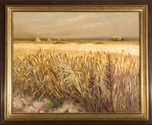 Marcel DYF (1899-1985) - Champs de blés à Arles