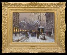 Édouard CORTES (1882-1969) - Place de la Madeleine en Hiver, Paris