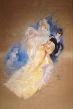 Jules CHÉRET (1836-1932) - Dame au tambourin