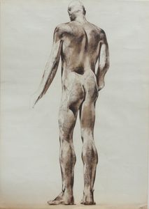 Luciano MIORI (1921-2006) - Male Nude - Back View