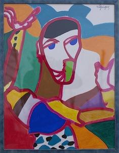Charles LAPICQUE (1898-1988) - Figures