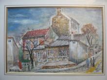 Lucien GENIN (1894-1953) - Le lapin agile à Montmartre