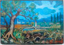 Antonio LIGABUE (1899-1965) - Lepre nel paesaggio