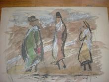 """Francisco ARIAS (1911-1977) - """"figuras y paisaje"""""""