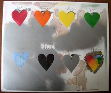 Jim DINE (1935) -  Eight Hearts