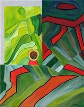 Gisela CLEV (1952) - géométrie des rizières