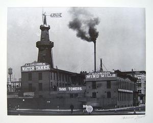 "Berenice ABBOTT (1898-1991) - ""A.J. Corcoran Water Tanks, New Jersey"""