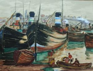Léon DETROY (1857-1955) - Port de Boulogne
