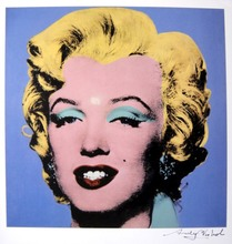"Andy WARHOL (1928-1987) - Andy WARHOL, ""Shot Light Blue Marilyn"" Hand Singed Print"