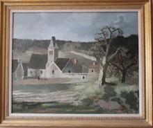 Roland OUDOT (1897-1981) - l'abbaye d'Elancourt (Yvelines)