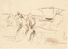 Joaquín SOROLLA Y BASTIDA (1863-1923) -  Llegada de la Pesca. Playa de Valencia