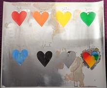 Jim DINE (1935) - Jim Dine eight hearts litographie 1970