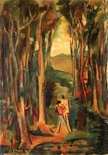 Avraham NATON (1906-1959) - Painter in a Landscape