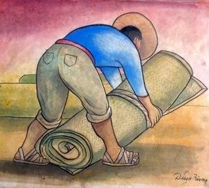 Diego RIVERA (1886-1957) - Cargador de petate