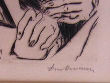 Max BECKMANN (1884-1950) - Illustration for Chapter Four, from: The Duchess | Die Fürst