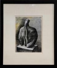 Henry MOORE (1898-1986) - Sculpture: Bust II