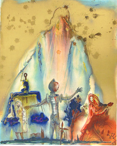 Salvador DALI (1904-1989) - Tancred's Choice, from Three Plays by the Marquis de Sade