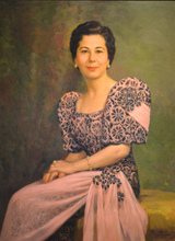 Fernando AMORSOLO (1892-1972) - Portrait of Bertha Isabel Schalk Wearing a Terno