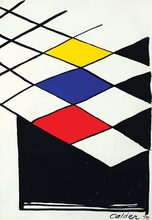 Alexander CALDER (1898-1976) - Faux vitrail