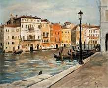 Takanori OGUISS (1901-1986) - Canal à Venise