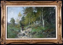 Alexandre DEFAUX (1826-1900) - Fermière en forêt de Fontainebleau