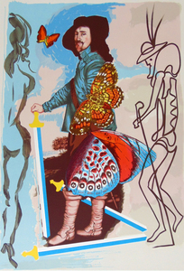 Salvador DALI (1904-1989) - Courtier (Five of Swords) from Papillons Anciennes