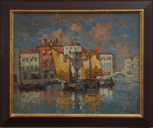 Konstantin Ivanovich GORBATOV (1876-1945) - Venetian fishing boats,
