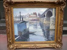 Alexandre JACOB (1876-1972) - Le pont d'Asnieres un jour d'hiver