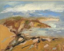 René QUÉRÉ (1932) - bord de mer