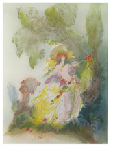 Amandine DORE (1912-2011) - La femme et le chérubin