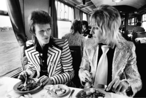 Mick ROCK (1949) - Bowie Ronson, Lunch on Train, UK