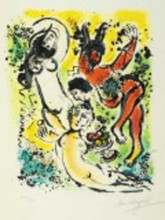Marc CHAGALL (1887-1985) - Theocritus from in the land of the gods