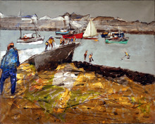 Jean LE GUEN (1926) - Matin gris à Gavres