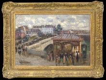 Gustave LOISEAU (1865-1935) - La Station du Tramway, Pont Corneille, Rouen