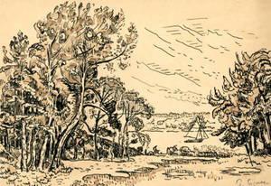 Paul SIGNAC (1863-1935) - Lézardrieux