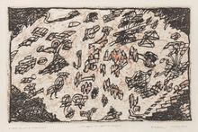Pierre ALECHINSKY (1927) - Le sauve-qui-peut de Rocquencourt