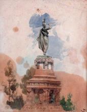 August LOHR (1842-1920) - Monumento a Cuitlahuac