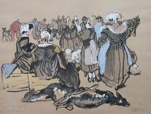 Mathurin MÉHEUT (1882-1958) - Foire à Quimper