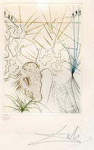 Salvador DALI (1904-1989) - GRAVURE 1970 SIGNÉ CRAYON NUM/250 ML398 HANDSIGNED ETCHING
