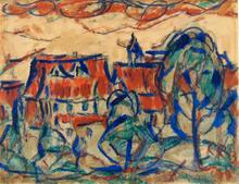 Christian ROHLFS (1849-1938) - Hausern Landscape