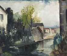 Maurice DE VLAMINCK (1876-1958) - Le Sausseron à Valmondois