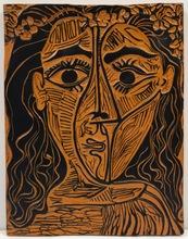 Pablo PICASSO (1881-1973) - Tête de femme à la couronne de fleurs