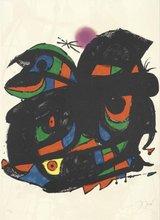 Joan MIRO (1893-1983) - Affiche pour l'inauguration de la Fundacio Joan Miro Barcelo