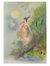 Amandine DORE (1912-2011) - La femme et la colombe