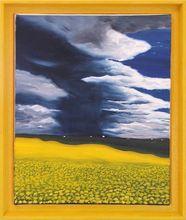 Gisela CLEV (1952) - orage sur champ de colza